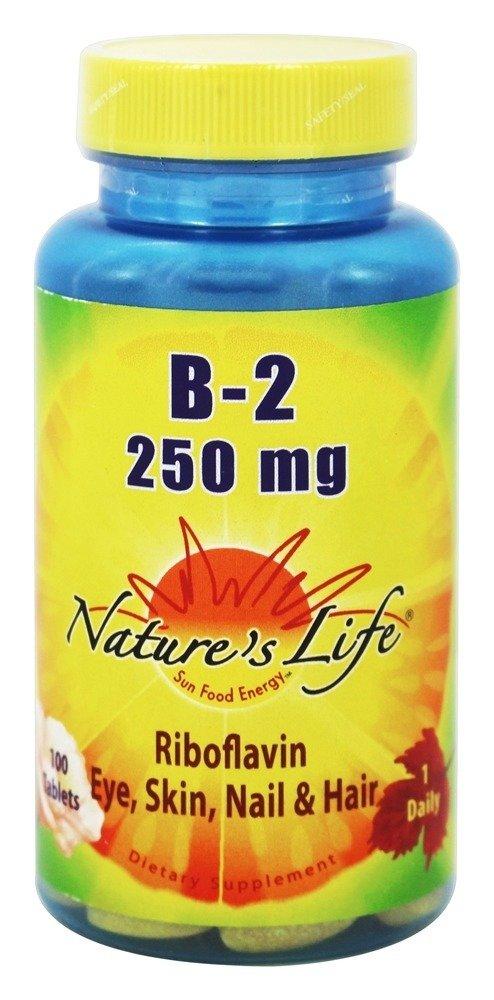 Vitamin B-2 250mg - Vegetarian, Yeast-Free - 100 - Tablet