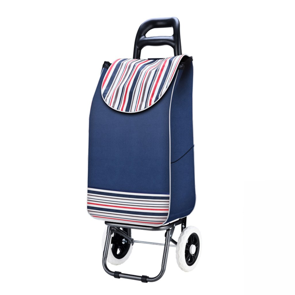 GLJ Shopping Cart, Shopping Cart, Small Cart, Portable Cart, Collapsible Trolley, Luggage Trolley Trolley
