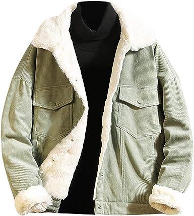 MOUTEN Men Print Faux Fur Line Casual Full-Zip Loose Fit Hoodie Sweatshirt Coat