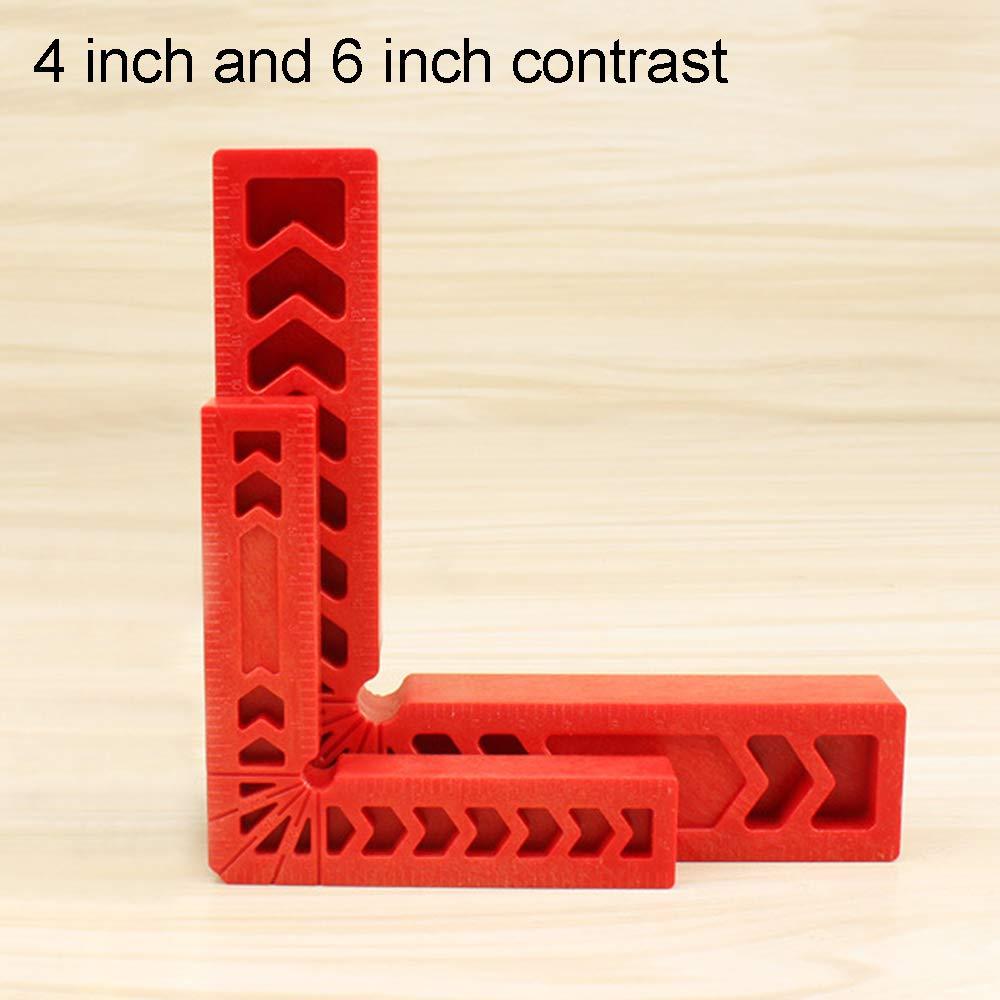 outil de charpentier Lot de 2 /équerres de positionnement /à 90 degr/és /équerres /à angle droit en plastique