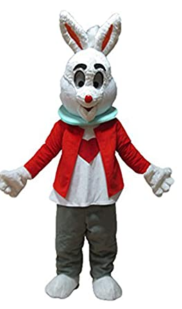 cd2f5339e Amazon.com: Easter Bunny Mascot Costume Cute Mascot Costume Custom ...