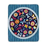 My Little Nest Warm Throw Blanket Decorative Butterflies Beetles Flowers Lightweight MicrofiberSoft Blanket Everyday Use for Bed Couch Sofa 50'' x 60''