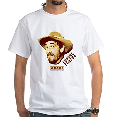 e067dc5e Amazon.com: CafePress Gunsmoke: Festus 100% Cotton T-Shirt, White ...