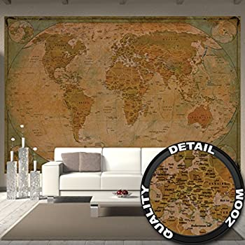 Amazon wallpaper map of the world wall picture decoration wallpaper map of the world wall picture decoration historical world map terrestrial globe old school gumiabroncs Gallery