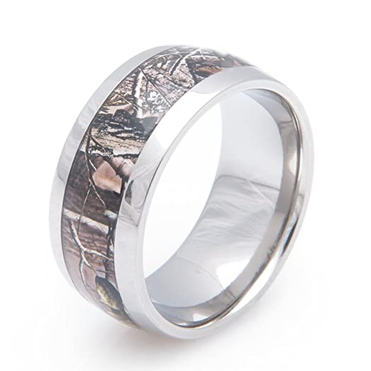 Titanium Realtree Apg Camo Wedding Ring 10MM Comfort Fit 4