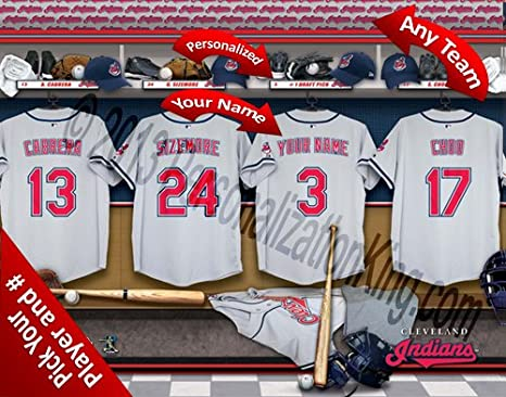 hot sales 50230 a0f77 Amazon.com : Cleveland Indians Team Locker Room Clubhouse ...