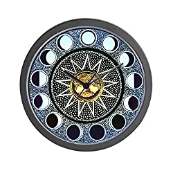 CafePress - Moon Phases Mandala - Unique Decorative 10 Wall Clock