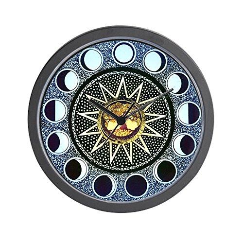 Moon Phases Mandala - Unique Decorative large wall clock