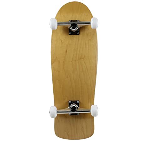 Moose Old School Complete Skateboard, Natural