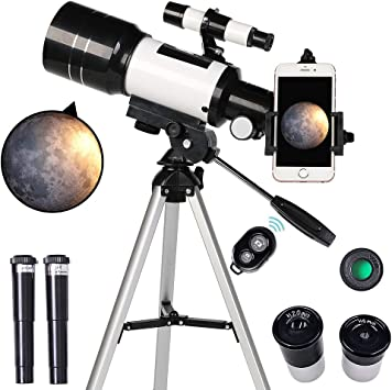 Amazon.com : ToyerBee Telescope for Kids& Beginners, 70mm Aperture