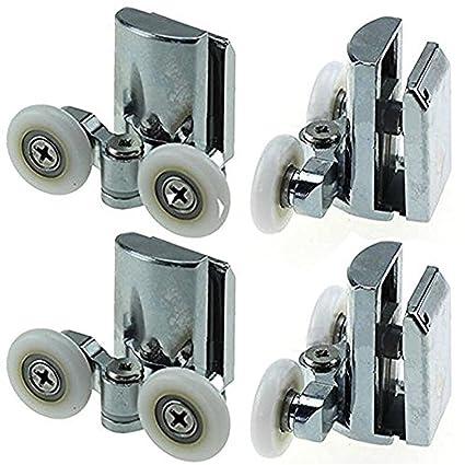 Rodamientos para mampara de ducha YuanQian, de acero inoxidable, 23 mm, para la