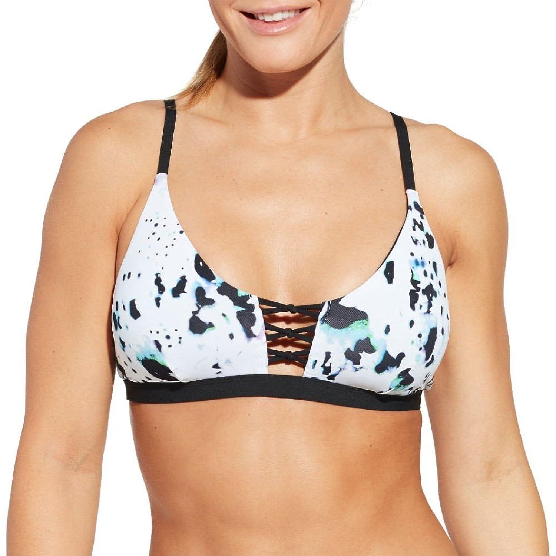 (キャリー アンダーウッド) CALIA by Carrie Underwood レディース 水着ビーチウェア トップのみ Lattice Front Printed Bikini Top [並行輸入品] B0793J6TGK M