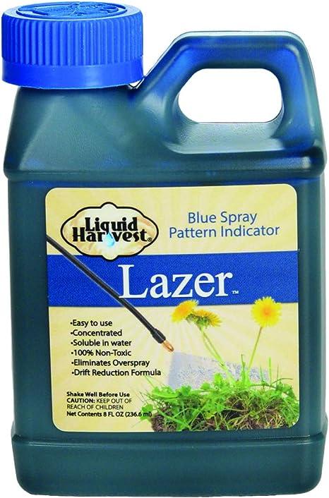 Liquid Harvest Lazer Azul Concentrado Spray indicador patrón Weed pulverización de Tinte, herbicida Dye, Fertilizante Marcado Tinte indicador del ...