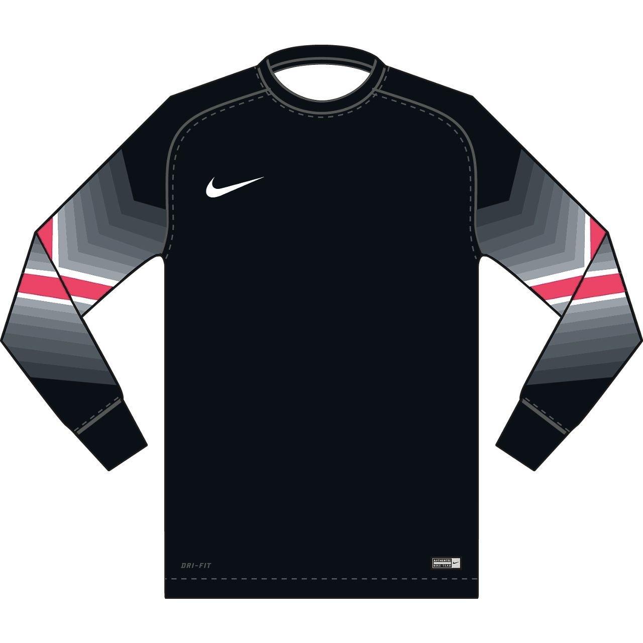 Nike長袖GoleiroレプリカサッカージャージーブラックYS B00J9N1SF0