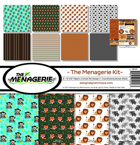 Reminisce the Menagerie Scrapbook Collection Kit 2 2