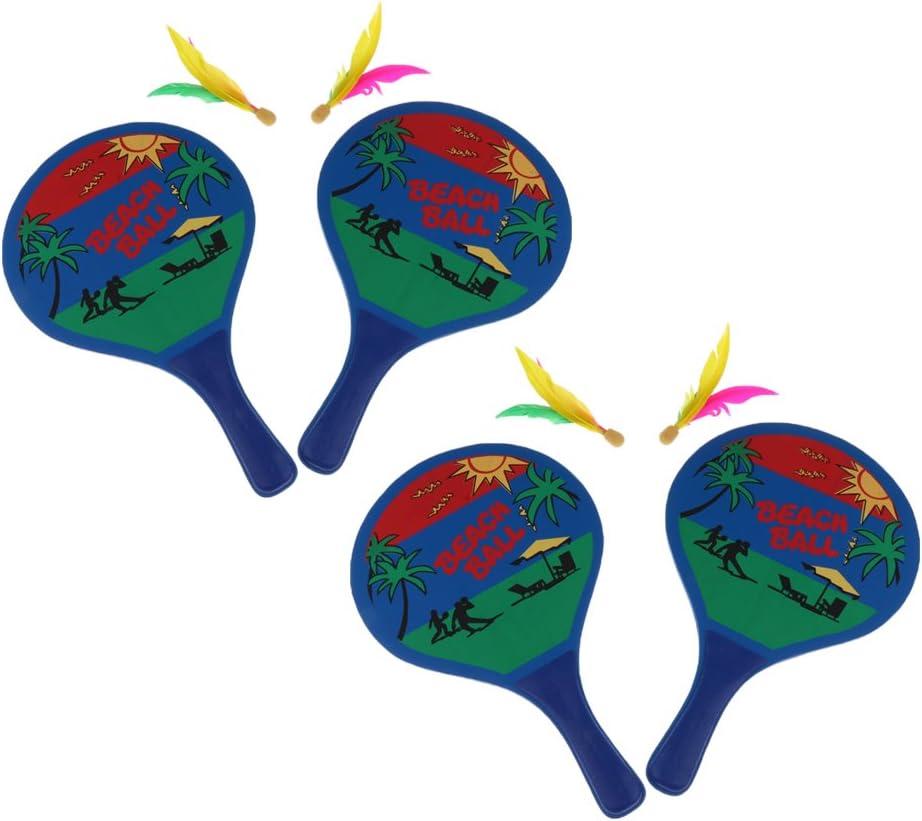 lahomia 2 Juegos de Raqueta de Tenis de Bádminton con Pelota - Juego de Playa para Interiores/Exteriores