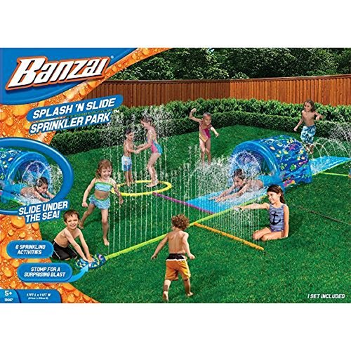 Banzai Splash N Soak Spinkler Park Water Slide Water Park Slide Splash