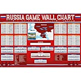 FIFA TWO (2) 2018 World Cup Wall Chart Posters