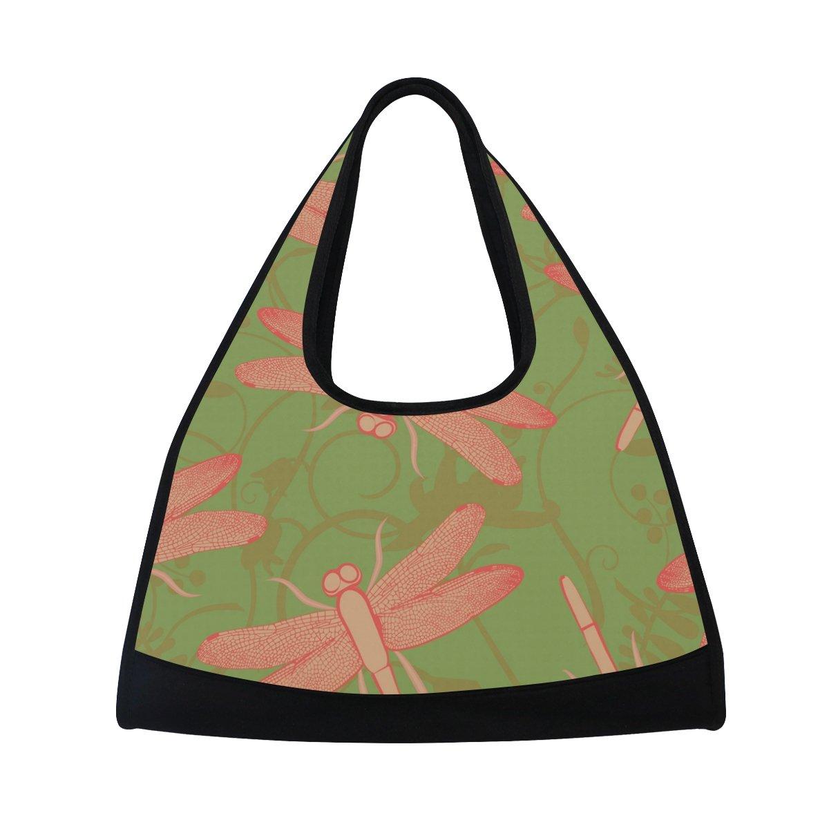 MAPOLO Dragonfly Summer Travel Duffel Bag Sports Gym Bag Shoulder Bag