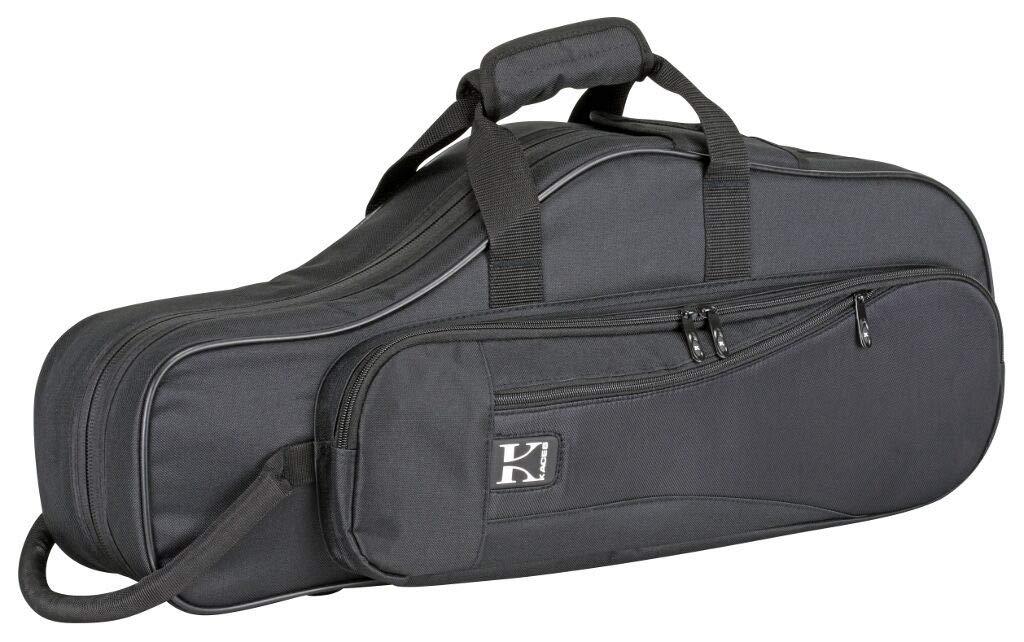 FidgetKute Kaces KBO-ASBK Lightweight Hardshell Alto Sax Case, Black Show One Size