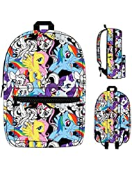 My Little Pony Characters Sublimated Print Bookbag Backpack Licensed New MLP