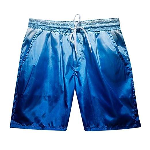 f09d4f7aad195 iLXHD Sale Men Short Pant Summer Gradient Surfing Running Drawstring Quick  Dry Beach Board Shorts Swim