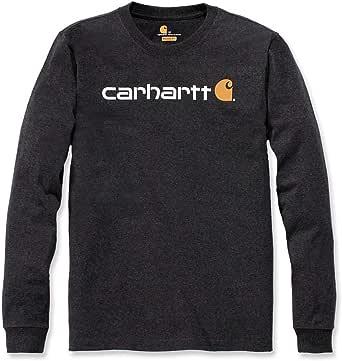 Carhartt Long-Sleeve Workwear Signature Graphic T-Shirt-Core Logo Camiseta para Hombre