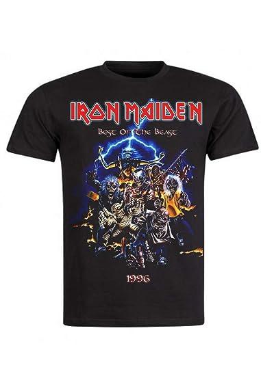 14a99796 Rock Vintage - T-Shirt Iron Maiden Best of The Beast: Amazon.fr: Vêtements  et accessoires