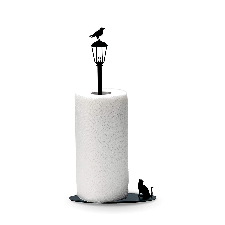 Artori Design Cat vs Crow | Paper Towel Stand Holder | Cute Design Rack| Perfect Gift