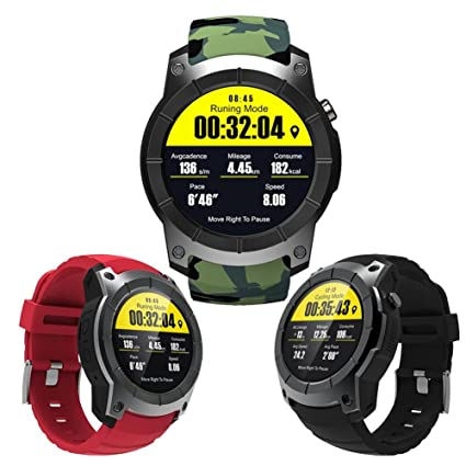 88db8cc80 Image Unavailable. Image not available for. Color: S958 Smart Watch Sports  Waterproof Heart Rate Monitor GPS 2G SIM Card ...