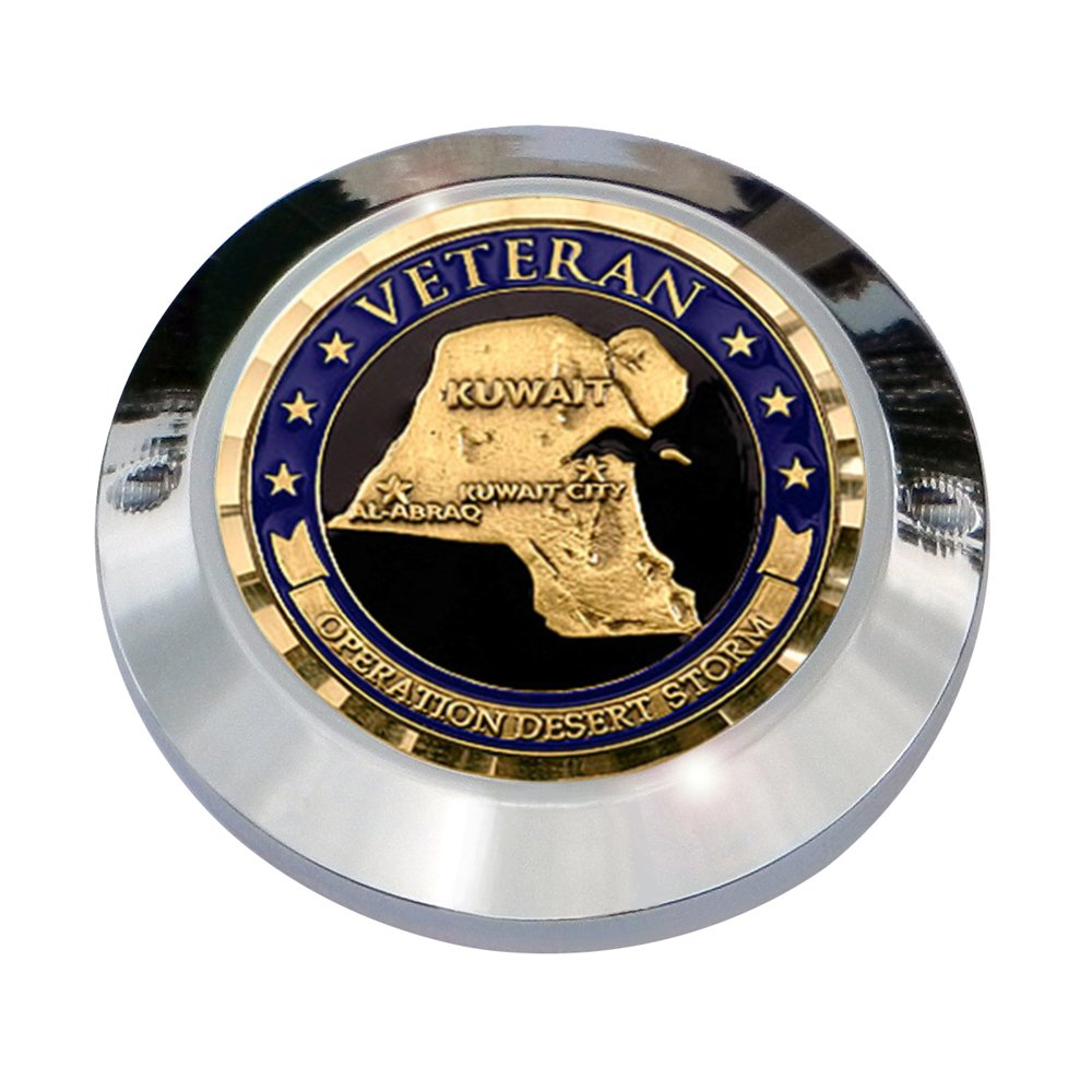 MotorDog69 Operation Desert Storm Veteran Milwaukee Eight Timing Cover Coin Mount Set