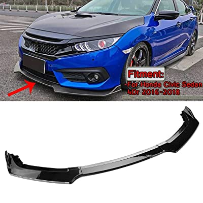 MotorFansClub 3pcs Front Bumper Lip Splitter for Honda Civic 2016 2020 2020 Trim Protection Splitter Spoiler, Carbon Fiber Pattern: Automotive