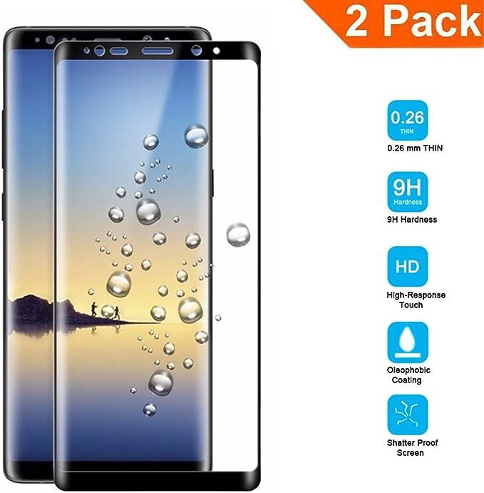 95Street [2 Unidades] Samsung Galaxy Note 8 Protector Pantalla ...