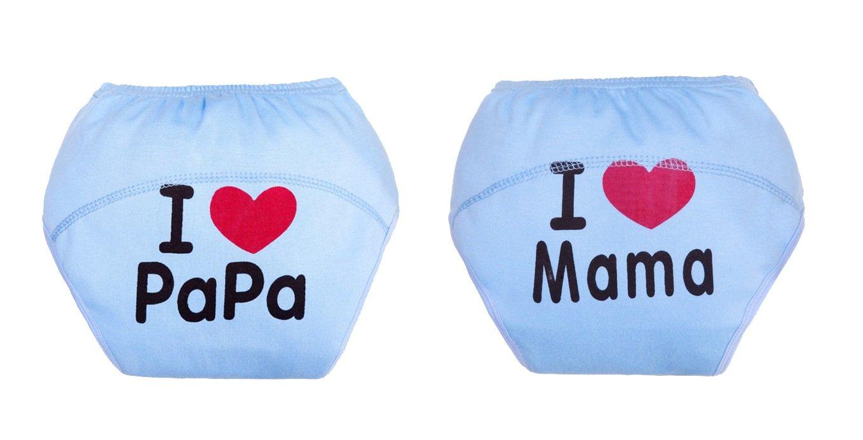 Fontee Baby 2 pièces Coton Culotte d'apprentissage pour filles,Lavable, imperméable à l'eau, réutilisable, 1-3 ans, 10~20 kg, rose imperméable à l' eau