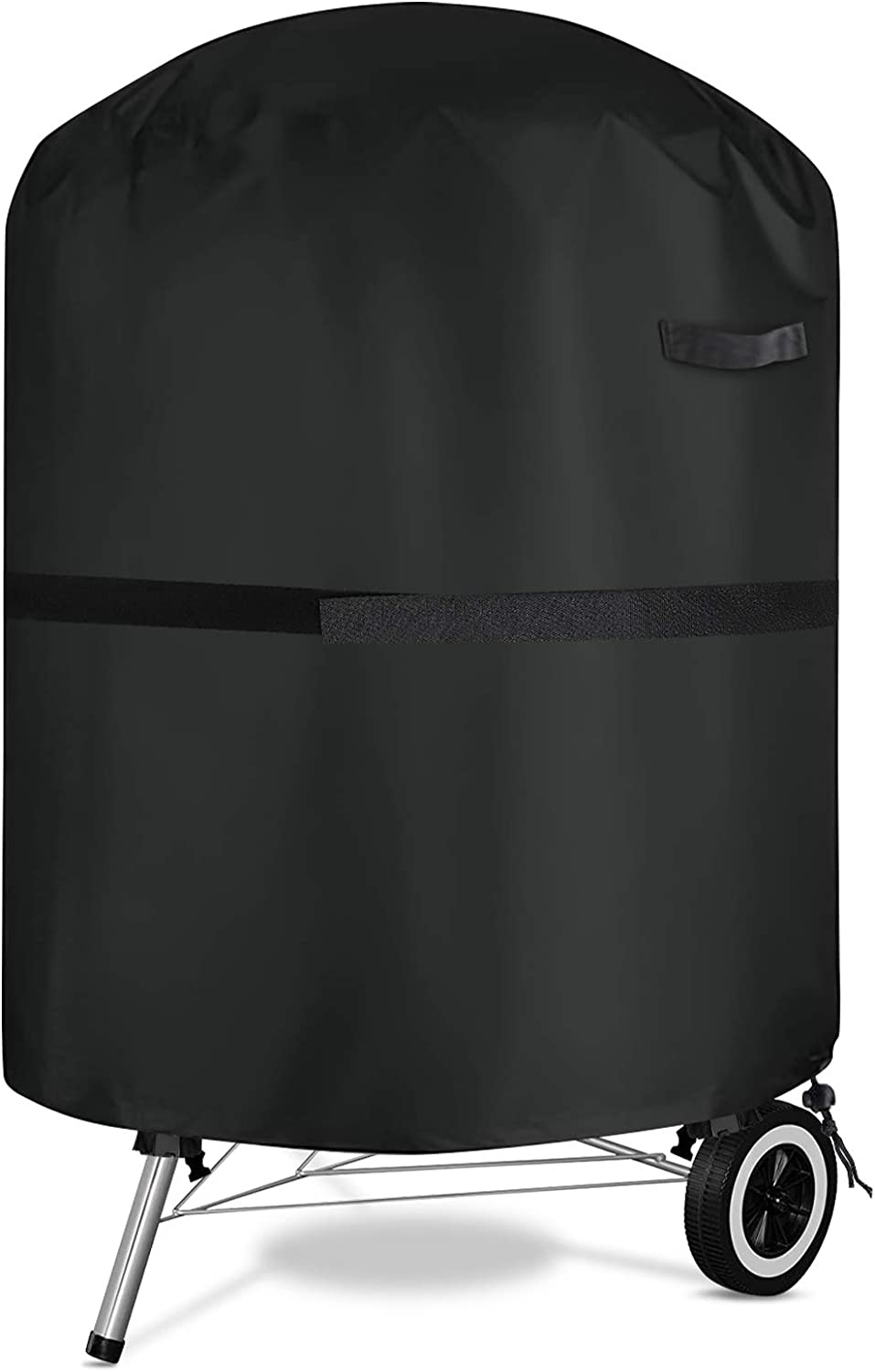 NASUM Grill Cover, 22-inch Charcoal Grill Covers Waterproof Heavy Duty, 600D BBQ Kettle Cover for Barbeque Grill of Weber, Brinkmann, Char-Broil, Jenn Air and Holland (28.5
