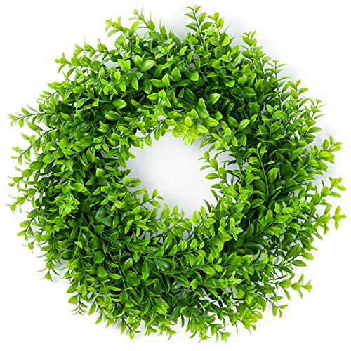 (Lvydec Artificial Green Leaves Wreath - 17
