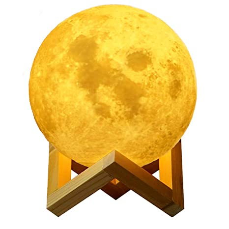 3d Print Moon Lamp Rechargeable Remote Control Touch Table Lamp Kids Baby Bedroom Lighting Creative Holiday Lights High Safety Lights & Lighting