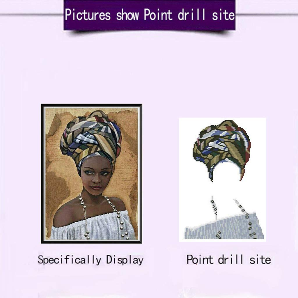 A LOVEER Diamond Painting Kits African Diamond Paintings 5D DIY Rhinestone Embroidery Paintings by Number Cross Stitch Kit 12 X 12 Inch