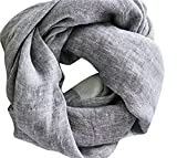 Linen Travel Wrap Noir (Almost Black)