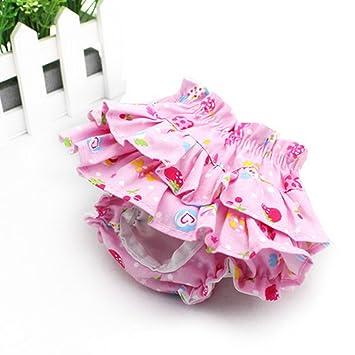 Millya reutilizable lavable ropa interior de mascota Perro Algodón pañal para Menstruación