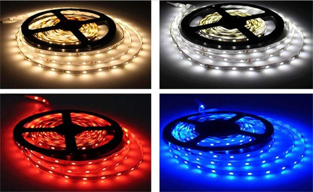 50m-Pack LED Flexible Strip Lights - Waterproof Led Tape Lights - red LED Lights SMD5050 60leds /m 5m/roll for Home, Kitchen, Cabinet Decoration