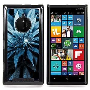 Jordan Colourful Shop - Cannabis Weed Plant Hemp Blossom Blue For Nokia Lumia 830 - < Personalizado negro cubierta de la caja de pl??stico > -