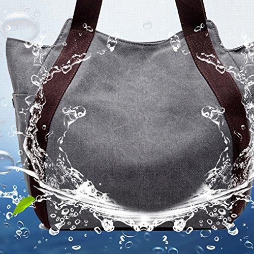 Lona señoras De Gran Capacidad Usable Transpirable Todo-fósforo Bolso Bolsas Brown