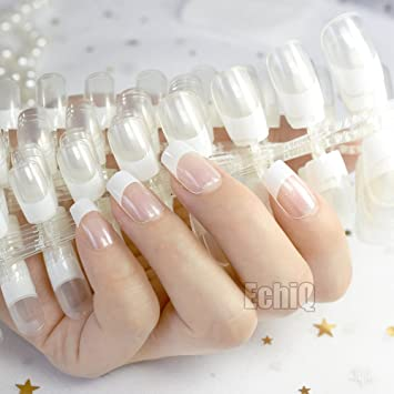 Amazon.com : 10 Sets Crystal Clear White French False Transparent ...