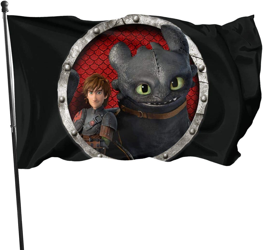 Adsfghrehr How to Train Your Dragon 3x5 Feet Home Decoration,Garden Decoration, Outdoor Decoration,Holiday Decoration