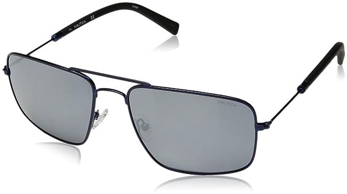 7c417d6fe4 Amazon.com  Nautica Men s N4632sp Polarized Aviator Sunglasses NAVY ...