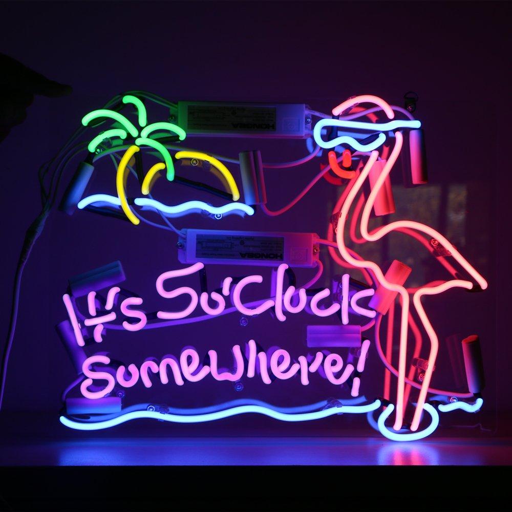 Flamingo Vintage Beer Bar Pub Shop Canteen Decor Neon Sign Light Lamp 16''x13'' (Flamingo) by Secbell (Image #1)