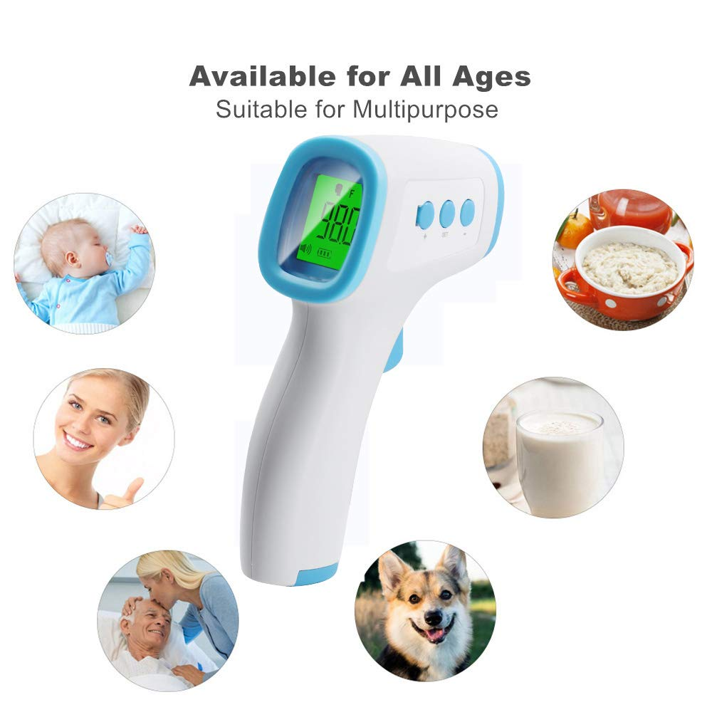 2PCS Safe Ear Mouth Thermometer for Adults Medical Digital Infrared Quick-Read Temperature RYGHEWE Adult Kids Body Digital LCD Baby Electronic Thermomete