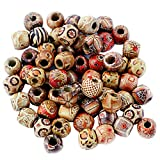 Pack of 100 12mm Mixed Round Wooden Beads for Jewelry Making Loose Spacer Charms Pendant Findingss