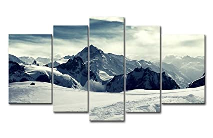 amazon com yuanclllp natural landscape paintings wall art snowy